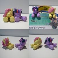 Twilight Fluttershy Badge Clips by ChibiSilverWings