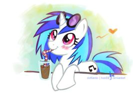 Vinyl Scratch - Chocolate Milk by riotfaerie