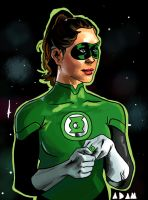 Gemma Arterton Green Lantern Gender Bend by stinson627