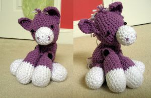 Purple Amigurumi Horse by SimbaHearted