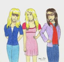 Request: the big bang theory girls by Daniel-RM