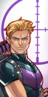 Hawkeye Panel Art Colored By Ihor Loboda by RichBernatovech