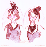 Dr. Sketchy Nottingham Ladies by tea-bug