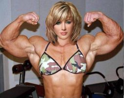 Blonde Double Biceps by Turbo99