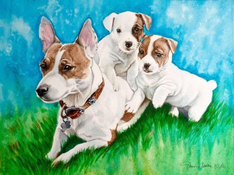 Jack Russle Family by dnewzdesign