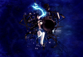 Black Rock Shooter Wallpaper by Dhencod