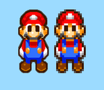 high res Mario sprite mlsss by GSVProductions