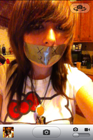 A request for me to have duct tape over my mouth.. by Chicay