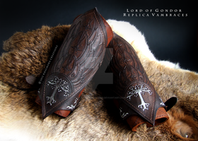 Lord of Gondor Boromir Replica Vambraces by Khalmora-Creations