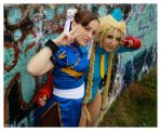 Chun-li and Cammy by VictoriaRusso