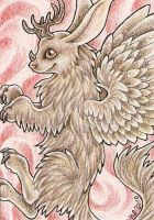 ACEO Trade: Bunny Dragon by Agaave