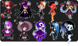 Set Price Creeps (closed) by Kariosa-Adopts