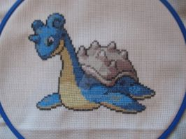 Lapras Cross Stitch by Letheine