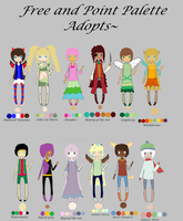 Free and Point Palette Adopts~(CLOSED) by Solarfox123