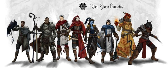 Black Stone Company - DnD Party by SilkyNoire