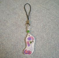 MLP Handmade Sweetie Belle Cell Phone Charm by AmyAnnie14