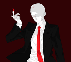 SLENDER MAN STALKS AND STRIKES by CaptainFalconMan