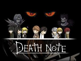 Wallpaper Death Note Chibi by XReaper666
