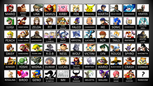 My SSB4 roster v2.0 by AtomicLugia