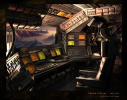 Falcon Cruiser - interior by ZeroCartin