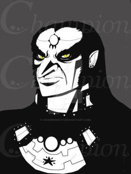 Ganondorf - Black n white by Championx91