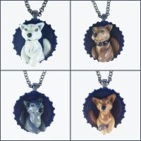 Wolf's Rain Pop-out Necklaces by LeiliaClay