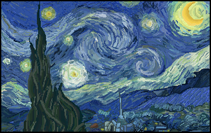 Pixel Starry Night by JEricaM