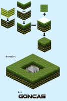 Isometric Mushroom Hill by marvinvalentin07