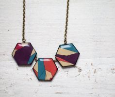 Geometric Necklace by BeautySpotCrafts