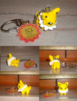 Jolteon Pokedoll Keychain by Skeleion