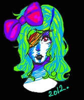 Little miss raver. by DaRainbowGurl