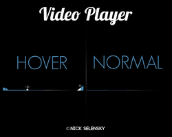 Video Player UI by Nick356