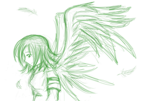 Sketchiness: angel wings by hkepoetry