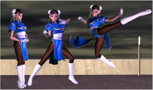 More Chun Li Fighting poses by Gustvoc