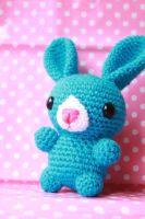 Blue Bunny - NOW FOR SALE by theyarnbunny