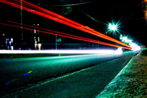 Car Lightstreams by JoseAvilaPhotography