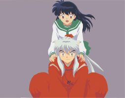 Inuyasha and Kagome Vector by colorfulfunerals