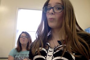 Me n Stasia in 4th period woot woot by allybear122