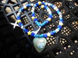 Late Night Starry Resin Kandi Necklace by Lutrasaura