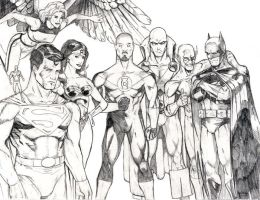 Justice League pencils by peetietang