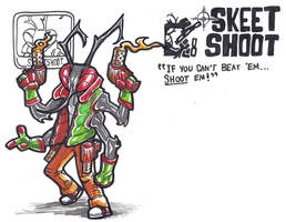 The Grotesque Gunman: Skeet Shoot! by BrightObject