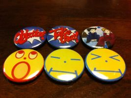 Phoenix Wright Buttons by nanashisangel