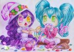 Yep, that REALLY tasted purple! - Lulu and Poppy by OwarinaiSora