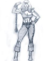 Thundra Sketch by SuperPoser