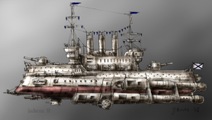 Ladoga-class cruiser -colour- by JanBoruta