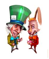 Mad Hatter and the March Hare by Krestersy