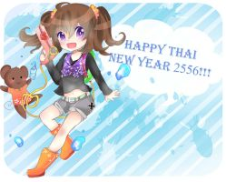 OC-Happy Thai New Year2556 ! by NEZUMI-NA