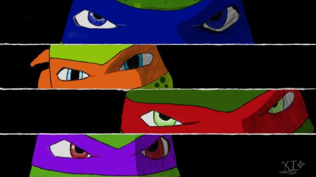 TMNT 2012 ready to fight by TheStarLeo