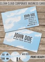 Clean Cloud Corporate Business Card by madebygb