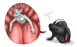 black and white: little swift vore 1of2 by ForcesWerwolf